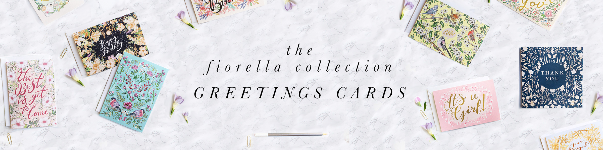 Fiorella collection luxury greetings cards katie craven luxury we are excited to bring you our latest fiorella collection which features delicate hand illustrated designs typography by award winning designer katie kristyandbryce Image collections