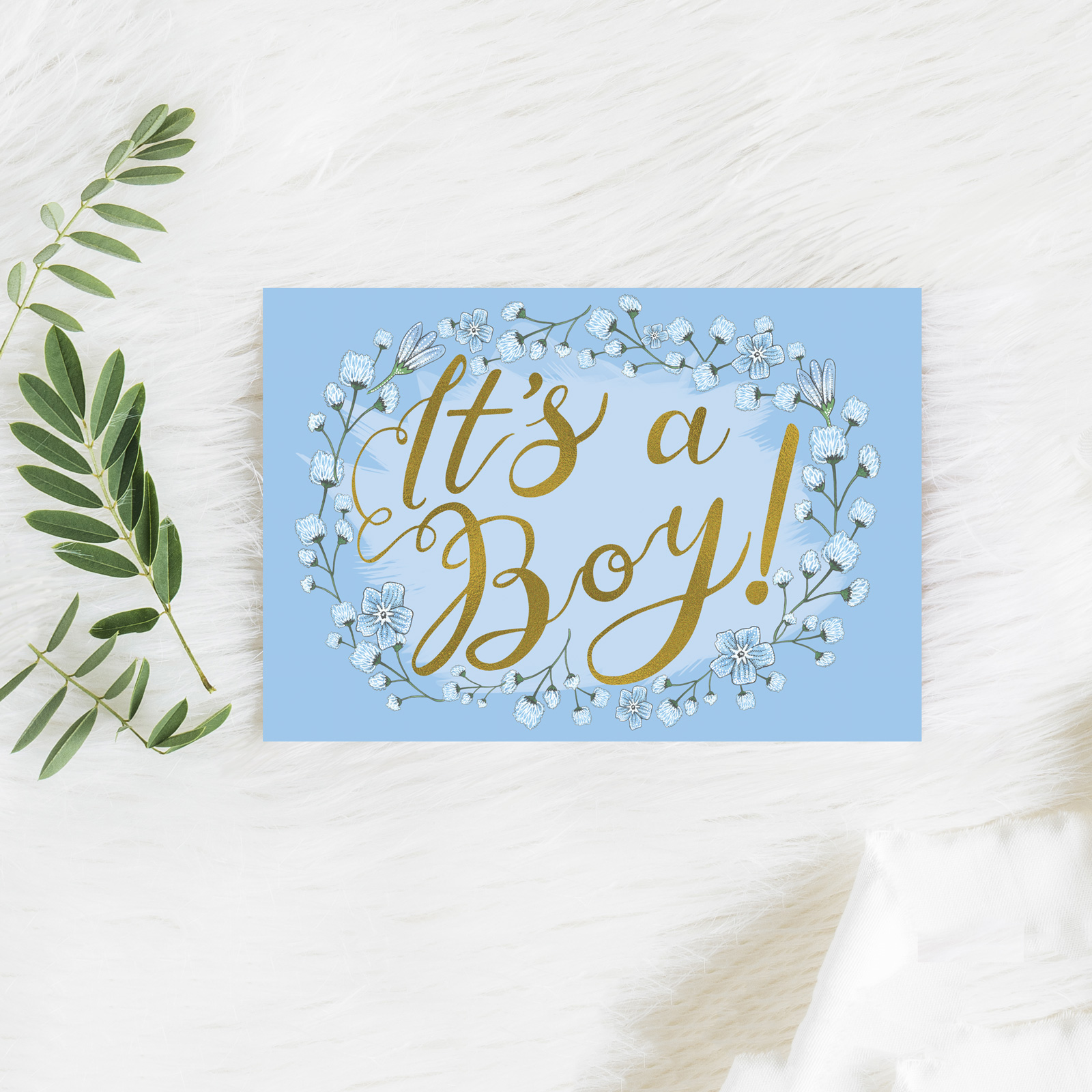 Its A Boy Card Katie Craven Luxury Cushions Wallpaper