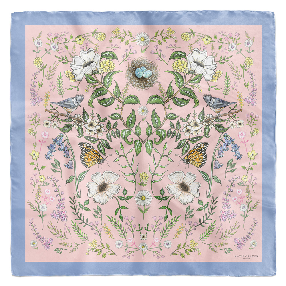 Spring Meadow Silk Scarf
