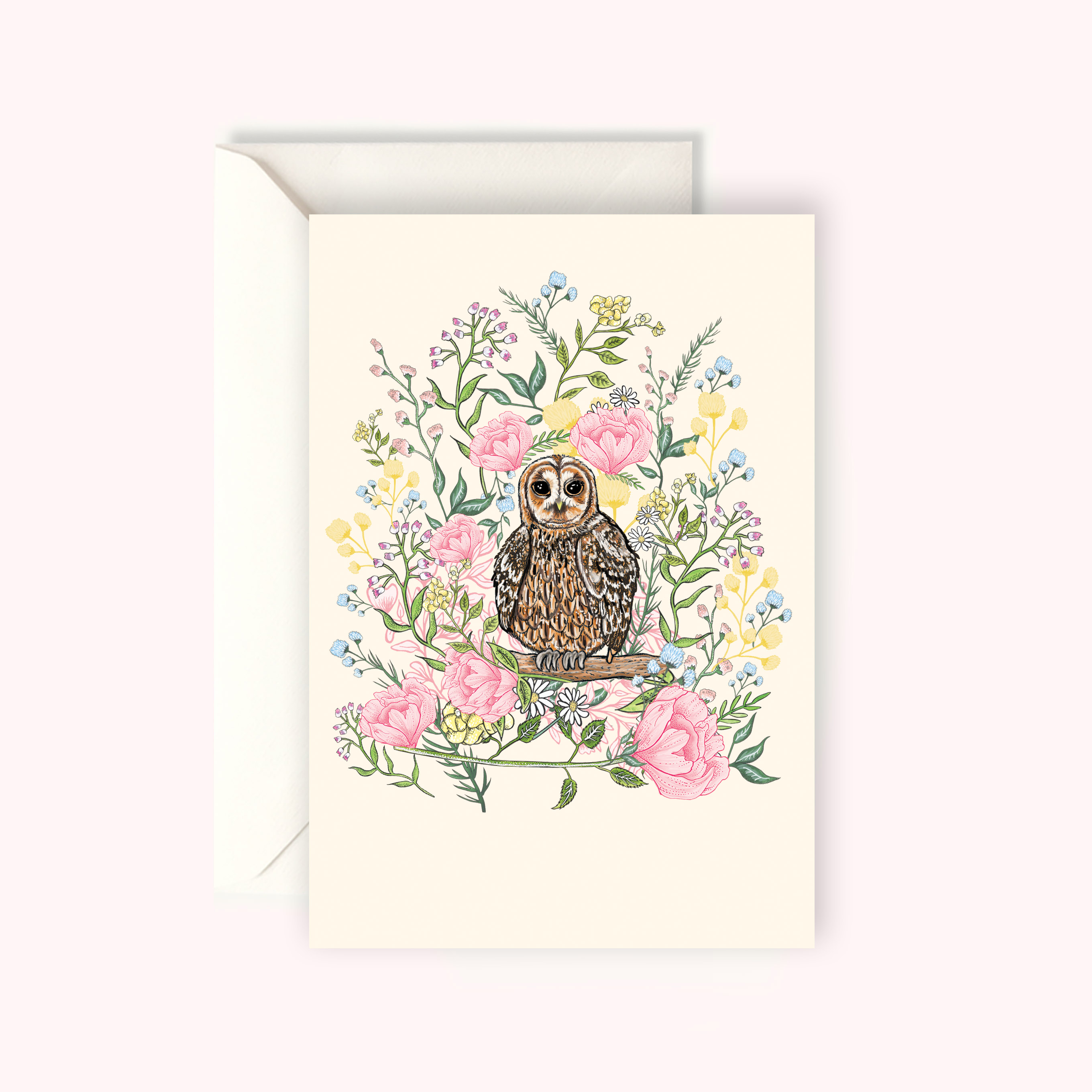 Tawny owl card katie craven luxury cushions wallpaper tawny owl card m4hsunfo
