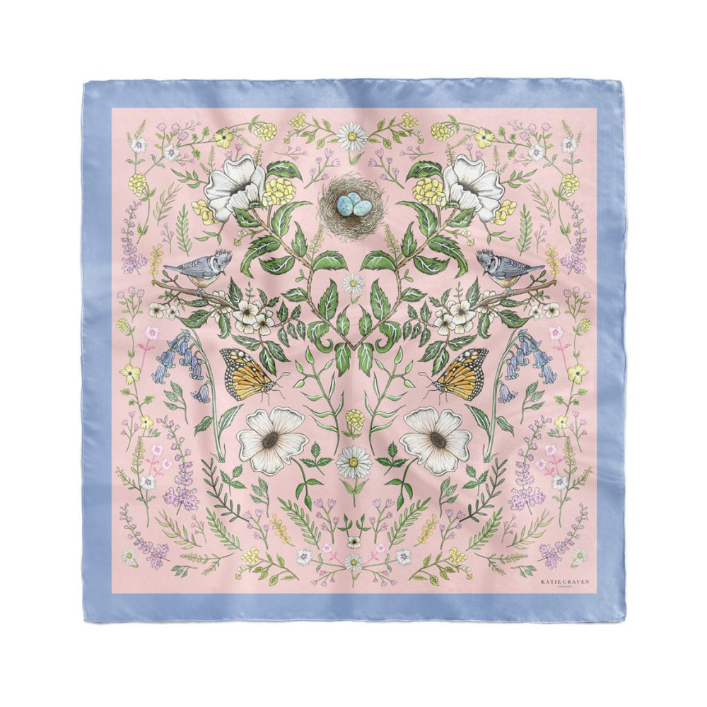Spring Meadow Silk Neckerchief