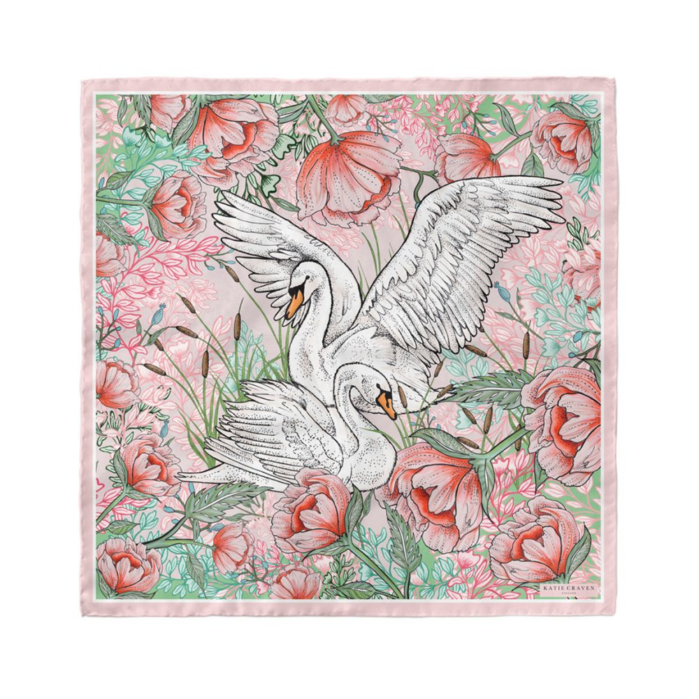 The Swan Love Silk Neckerchief